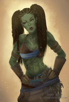 Commission: Sassy Orc by Mimssi