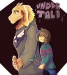 frisk and goat mom by SimplyMisty