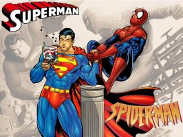 Superman vs Spiderman WP 1 by Superman8193