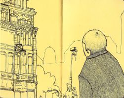 Moleskine city sketch by AkuleArt