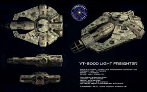 YT-2000 Freighter ortho by unusualsuspex