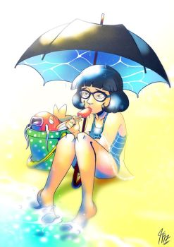 Meanwhile On Dearly Beloved Beach by TamarinFrog