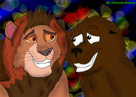 Trade Art: Obi and Kynno the Sea Lion by valentinfrench