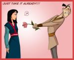 Mulan,Ling: Flower by Crispy-Gypsy