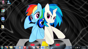 MLP in September FINALE: R Dash and V Scratch by SuperShadiw1010