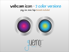 Webcam Icon - Guemor - 2 Color Versions by guemor