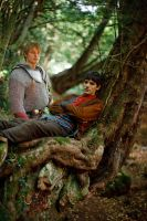 Merlin Arthur in the Woods 2 by EmrysDragonlord