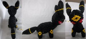 3D Origami - Umbreon by Jobe3DO