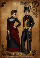 SteamJazz Victoran Couple by silveriatha