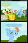 Grannyfix Smithix and Rainbow Dash as Obelix comic by DiegoTan