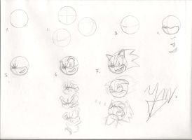 how to draw Sonic The Hedgehog characters in 7 stp by DanteSagittariKnight