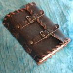 Handmade leather journal with buckles by ReflectionsByIce