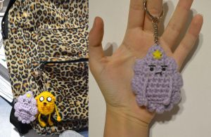 Princess Lumpy Space Amigurumi Keychain by MiaHandcrafter