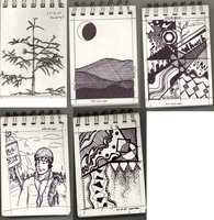 Collage of small sketches by DBZMSI