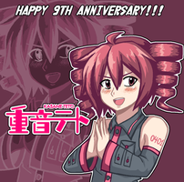 Kasane Teto 9th anniversary! by Kousaku-P