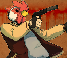 Richard||Hotline Miami FanArt by CrazyParrotDrun
