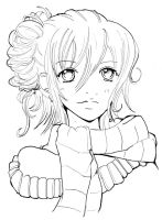 Girl with scarf by Namtia