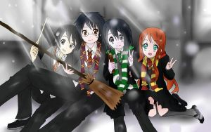 Snape and Frienemies by ouranhalfkewl