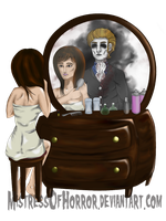 Behind you by MistressOfHorror
