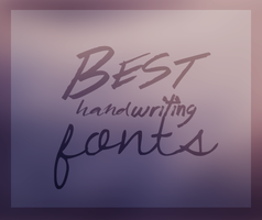 handwriting fonts by Yeonseb