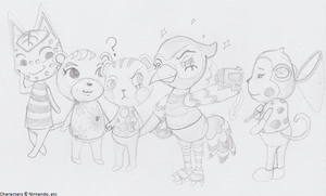 Animal Crossing Villagers Doodle by SamCyberCat