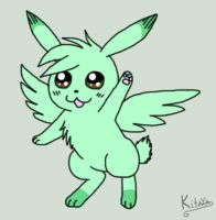 Flying Mint Bunny by Night-Chimeras-Cry