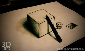 3D Drawing - Art Box by EdyZhng