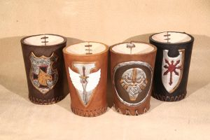 leather cups by LeszekGyver