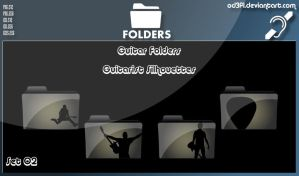 Guitar Folders - Guitarist Silhouettes Set 02 by od3f1