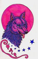 Pink Moon Badge by Rianne2k8 by ArtOfThePawAndFang