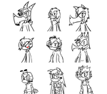 .-._Quick Sketch_.-. My Characters so far (Heroes) by gunray10