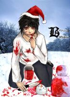 B kills the bloody Snowman by Amy-Hotchic