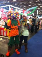 Skull Kid and Onilink by L-K1
