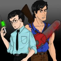 Herbert and Ash colored by Boos-girl666