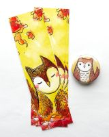 owl bookmarks by michellescribbles