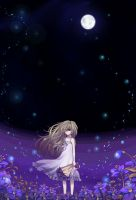 night flowerfield by Hika-Vns