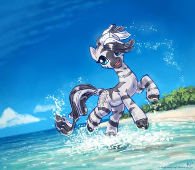 Zecora at the beach by KP-ShadowSquirrel