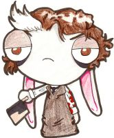 Sweeny Todd bunny by PsykoaktiveFantasi
