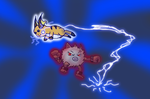 Primeape vs Raichu by Fig5