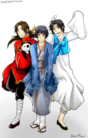 APH: Asia trio by BlackMayo
