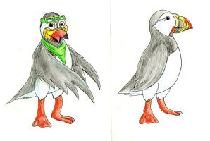 Puffins by Battyniconi