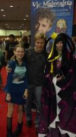 Me, My Mom, and Vic Mignogna by AshurasDaughter
