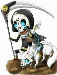 Chibi Exo Death and Barghest by Nashiil