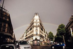 rainbow in Paris by Lucem