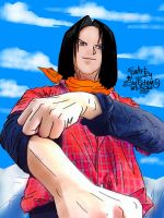 Android 17 Dragon Ball by sw-eden