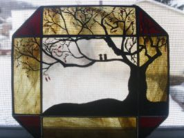 Stain Glass Painting - Acrylic - 2010 by lyssagal
