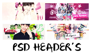 [Closed} PSD HEADER'S PACK byisra by AnqeelQueen1