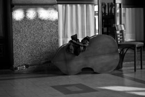 Cello on street by anahuac