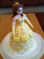 Belle 3D Sculpted Fondant Figure front view by Spudnuts