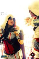 Assassin's Creed -  Ezio and lady by megamihinata